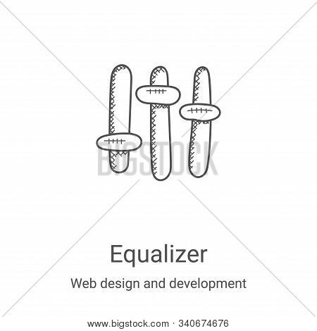 equalizer icon isolated on white background from web design and development collection. equalizer ic