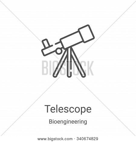 telescope icon isolated on white background from bioengineering collection. telescope icon trendy an