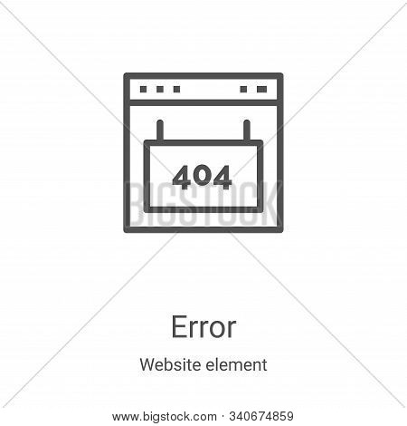 error icon isolated on white background from website element collection. error icon trendy and moder