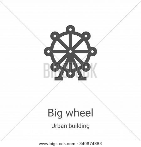 big wheel icon isolated on white background from urban building collection. big wheel icon trendy an