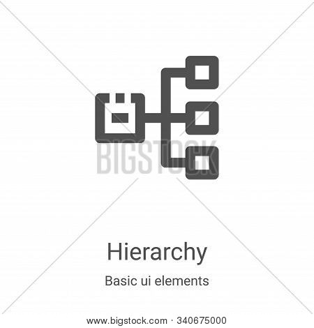 hierarchy icon isolated on white background from basic ui elements collection. hierarchy icon trendy