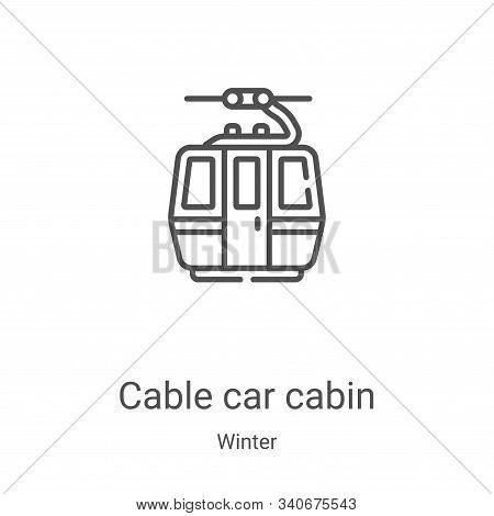 cable car cabin icon isolated on white background from winter collection. cable car cabin icon trend