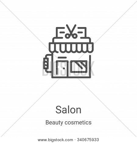 salon icon isolated on white background from beauty cosmetics collection. salon icon trendy and mode