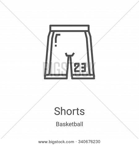 shorts icon isolated on white background from basketball collection. shorts icon trendy and modern s