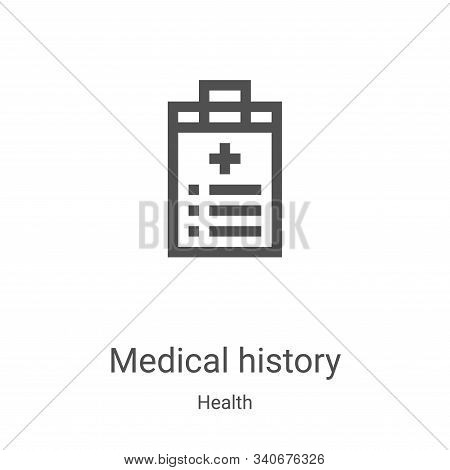 medical history icon isolated on white background from health collection. medical history icon trend