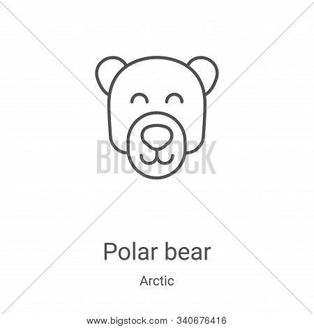 polar bear icon isolated on white background from arctic collection. polar bear icon trendy and mode