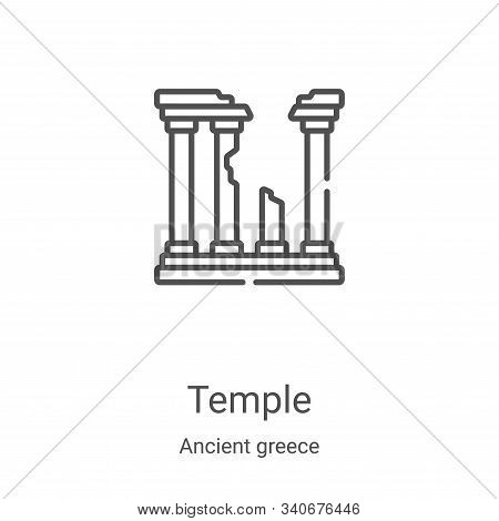 temple icon isolated on white background from ancient greece collection. temple icon trendy and mode