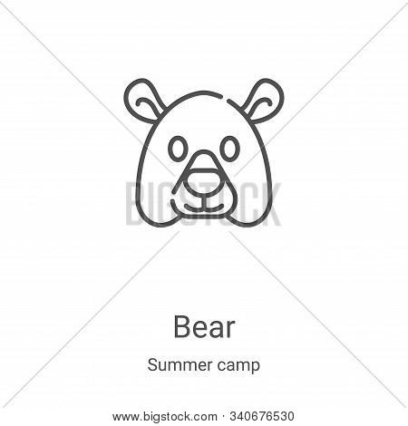 bear icon isolated on white background from summer camp collection. bear icon trendy and modern bear