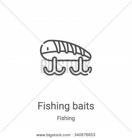 fishing baits icon isolated on white background from fishing collection. fishing baits icon trendy a