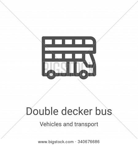 double decker bus icon isolated on white background from vehicles and transport collection. double d
