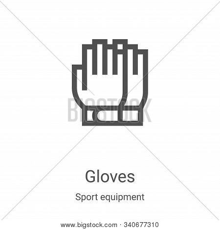 gloves icon isolated on white background from sport equipment collection. gloves icon trendy and mod