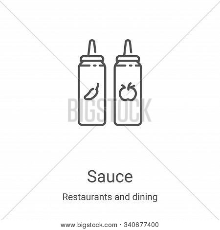 sauce icon isolated on white background from restaurants and dining collection. sauce icon trendy an