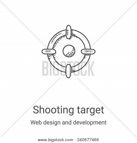 shooting target icon isolated on white background from web design and development collection. shooti