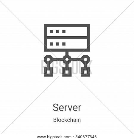server icon isolated on white background from blockchain collection. server icon trendy and modern s