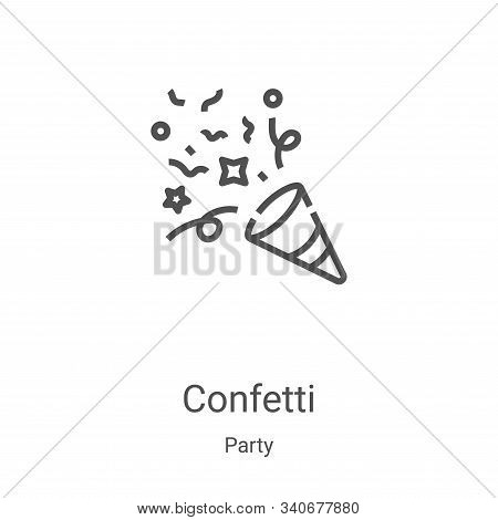 confetti icon isolated on white background from party collection. confetti icon trendy and modern co
