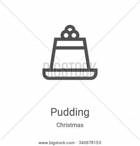 pudding icon isolated on white background from christmas collection. pudding icon trendy and modern