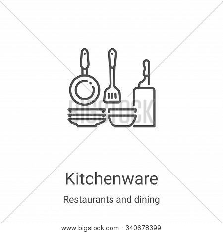 kitchenware icon isolated on white background from restaurants and dining collection. kitchenware ic