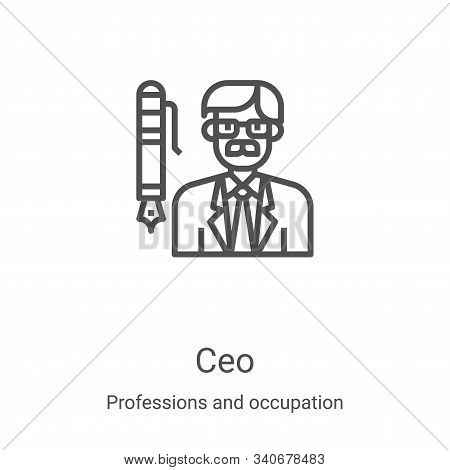 ceo icon isolated on white background from professions and occupation collection. ceo icon trendy an