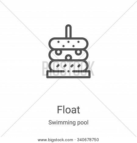 float icon isolated on white background from swimming pool collection. float icon trendy and modern