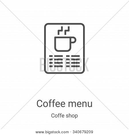 coffee menu icon isolated on white background from coffe shop collection. coffee menu icon trendy an