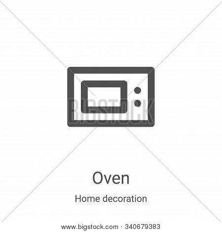 oven icon isolated on white background from home decoration collection. oven icon trendy and modern