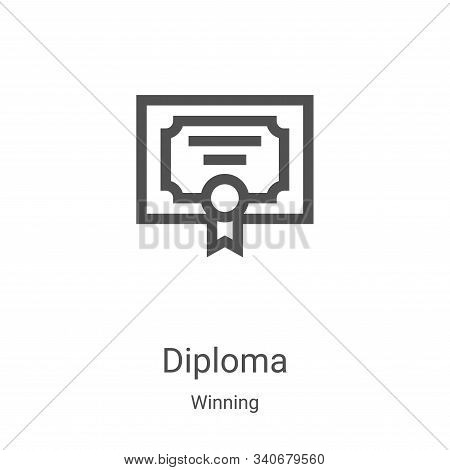diploma icon isolated on white background from winning collection. diploma icon trendy and modern di