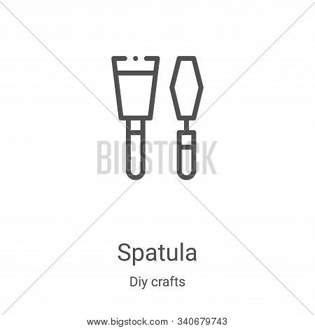 spatula icon isolated on white background from diy crafts collection. spatula icon trendy and modern