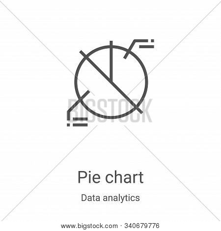 pie chart icon isolated on white background from data analytics collection. pie chart icon trendy an