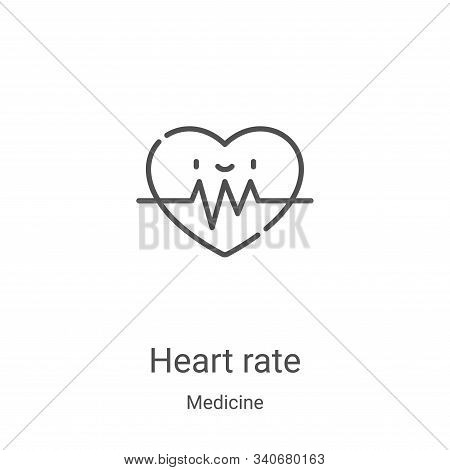 heart rate icon isolated on white background from medicine collection. heart rate icon trendy and mo