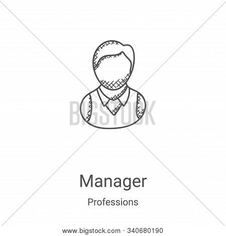 manager icon isolated on white background from professions collection. manager icon trendy and moder