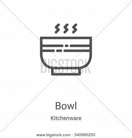 bowl icon isolated on white background from kitchenware collection. bowl icon trendy and modern bowl
