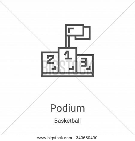podium icon isolated on white background from basketball collection. podium icon trendy and modern p