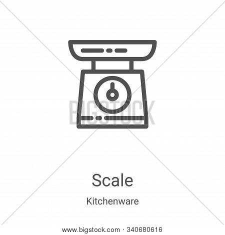 scale icon isolated on white background from kitchenware collection. scale icon trendy and modern sc