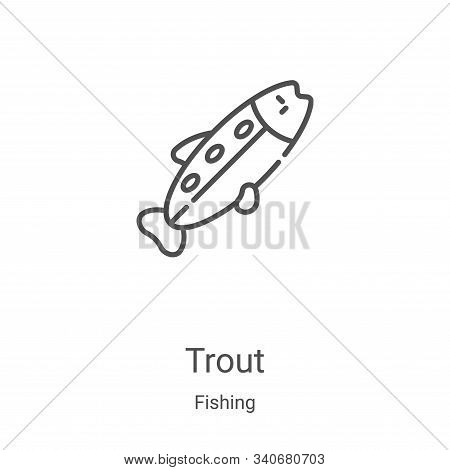 trout icon isolated on white background from fishing collection. trout icon trendy and modern trout