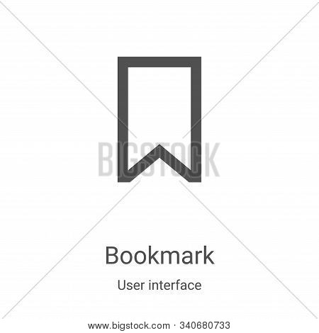 bookmark icon isolated on white background from user interface collection. bookmark icon trendy and
