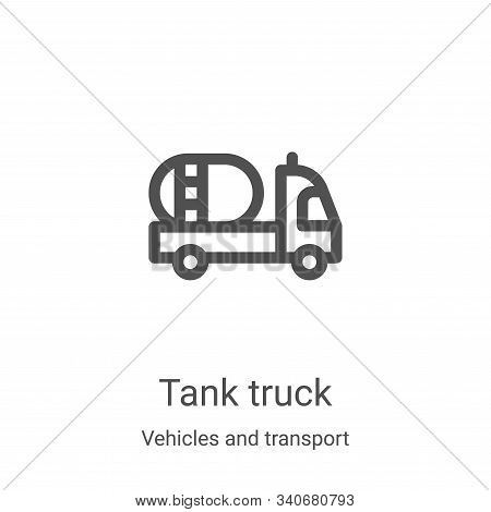 tank truck icon isolated on white background from vehicles and transport collection. tank truck icon