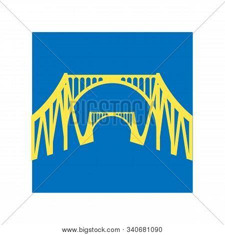 Around The World. Travel Illustration With Attraction Of Usa. Golden Gate Bridge,