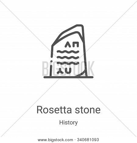 rosetta stone icon isolated on white background from history collection. rosetta stone icon trendy a