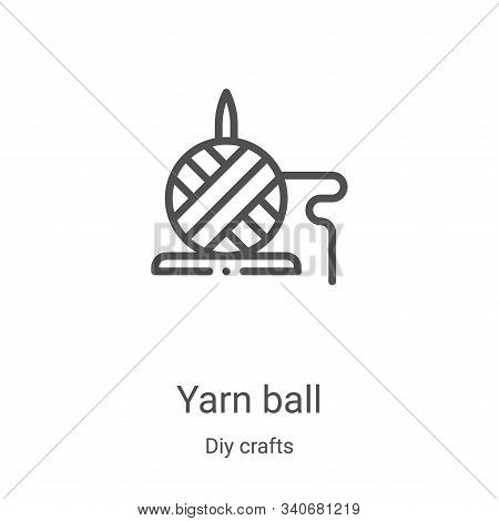 yarn ball icon isolated on white background from diy crafts collection. yarn ball icon trendy and mo