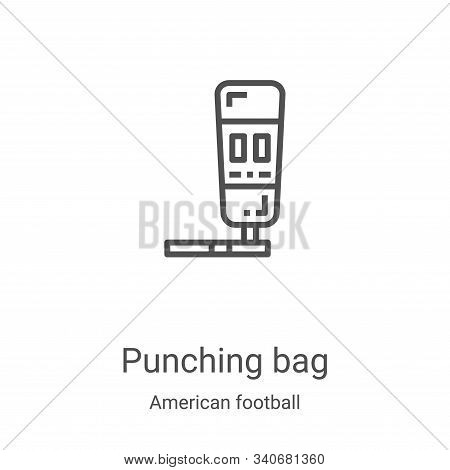 punching bag icon isolated on white background from american football collection. punching bag icon
