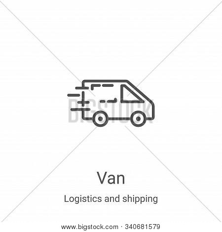 van icon isolated on white background from logistics and shipping collection. van icon trendy and mo