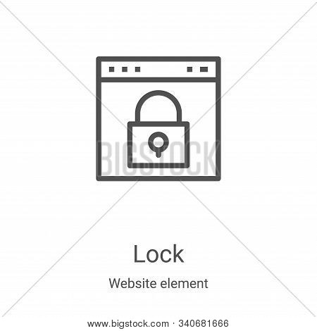 lock icon isolated on white background from website element collection. lock icon trendy and modern