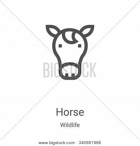 horse icon isolated on white background from wildlife collection. horse icon trendy and modern horse