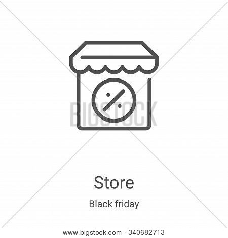 store icon isolated on white background from black friday collection. store icon trendy and modern s