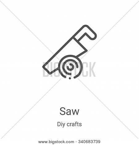 saw icon isolated on white background from diy crafts collection. saw icon trendy and modern saw sym