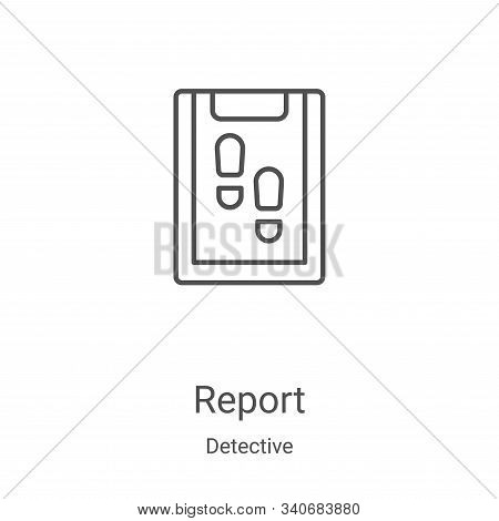 report icon isolated on white background from detective collection. report icon trendy and modern re