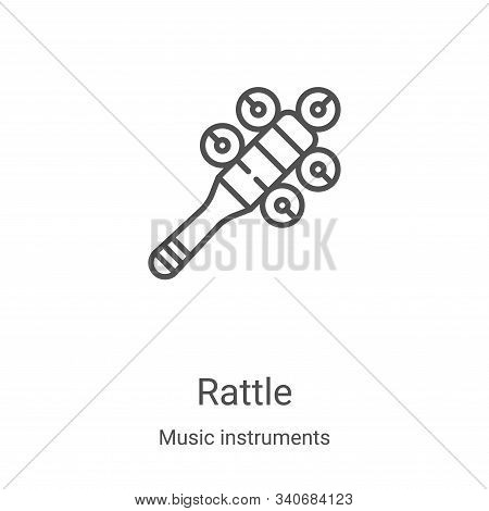 rattle icon isolated on white background from music instruments collection. rattle icon trendy and m
