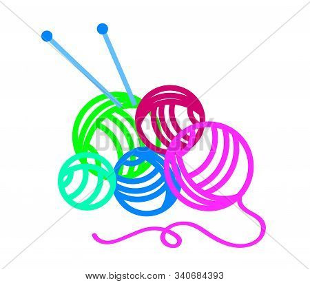 Woolen Nickies On A White Background. Symbol. Vector Illustration.