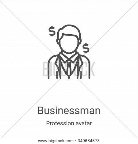 businessman icon isolated on white background from profession avatar collection. businessman icon tr