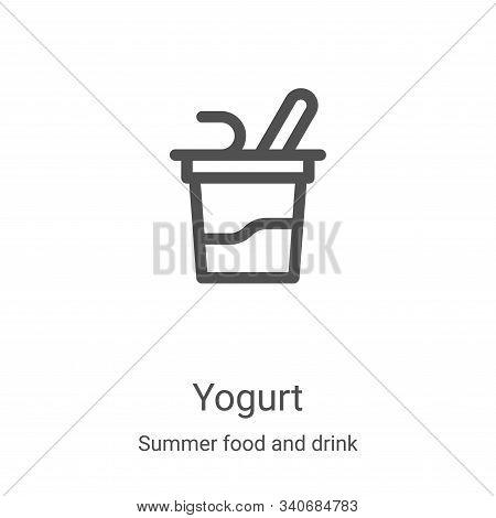 yogurt icon isolated on white background from summer food and drink collection. yogurt icon trendy a